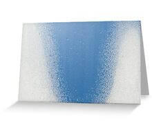 Water condensation on window frozen Greeting Card