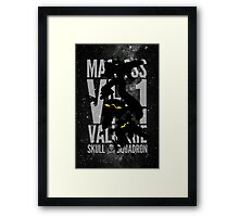 A Skull from the Skies Framed Print