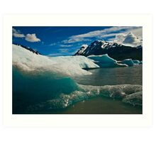 Ice of Spencer Lake Art Print