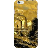 Industrial Revolution - Rotherham Station, Yorkshire,  in 1840 iPhone Case/Skin