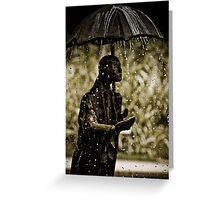 It Always Rains Greeting Card
