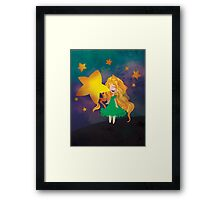 The Stars Lean Down to Kiss You Framed Print
