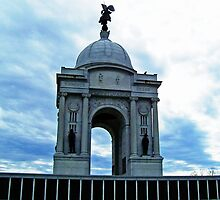 The Pennsylvania Monument.. Gettysburg National Park, PA...  by Angela Lance
