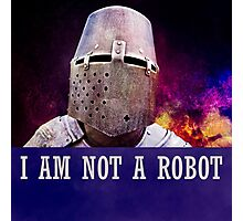 I am not a robot Photographic Print