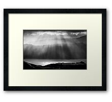 Magic Moments in mono Framed Print