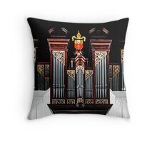 Pipe Organ at Christ Church Anglican Cathedral in Downtown Nassau, The Bahamas Throw Pillow