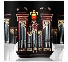 Pipe Organ at Christ Church Anglican Cathedral in Downtown Nassau, The Bahamas Poster