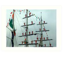 Sailors on Display Art Print