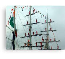 Sailors on Display Metal Print