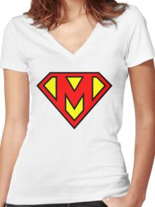 Super M Women's Fitted V-Neck T-Shirt