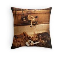we drink dirty water Throw Pillow