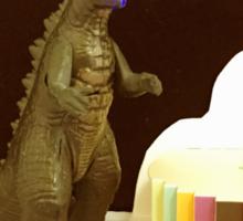 Godzilla Birthday Sticker