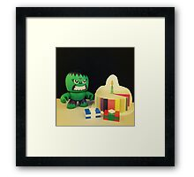 Hulk Birthday Framed Print