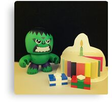 Hulk Birthday Canvas Print