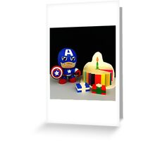 Captain America Birthday Greeting Card