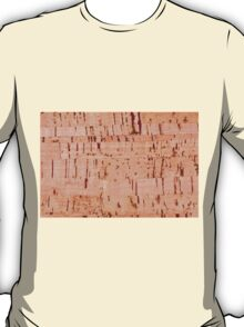 cork striped sheet texture abstract T-Shirt