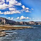 Panoramic view of Monte  Cofano, Sicily by Andrea Rapisarda