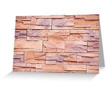 Slate tiles purple beige rock abstract Greeting Card
