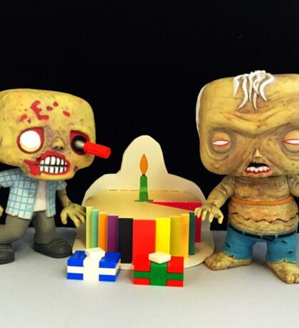 Zombie Birthday Sticker