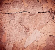 old cracked paint texture damaged wall by Arletta Cwalina