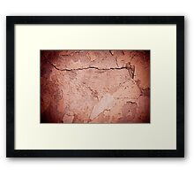 old cracked paint texture damaged wall Framed Print