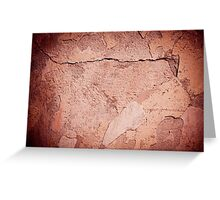 old cracked paint texture damaged wall Greeting Card