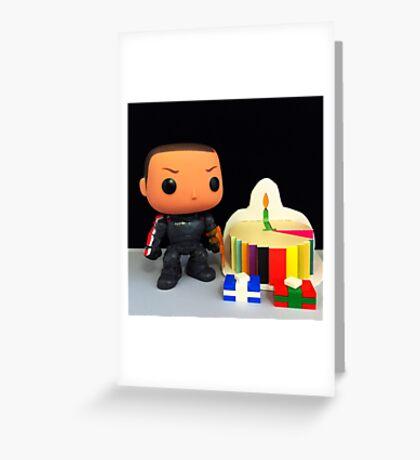 Commander Shepard Birthday Greeting Card