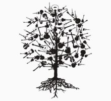 Guitars Tree Roots T-Shirt