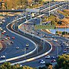 Kwinana Freeway from King's park by Charles Kosina