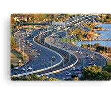 Kwinana Freeway from King's park Canvas Print