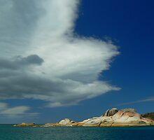 Cape Barren Island coast. by Margestuff