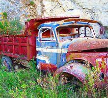 Red Truck of Benitses Corfu by fruitcake