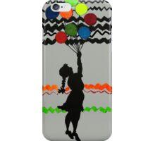 Banksy Colourful Balloon Girl  iPhone Case/Skin