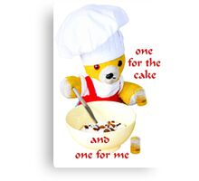 One for the cake Canvas Print
