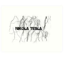 Tesla lightning Art Print