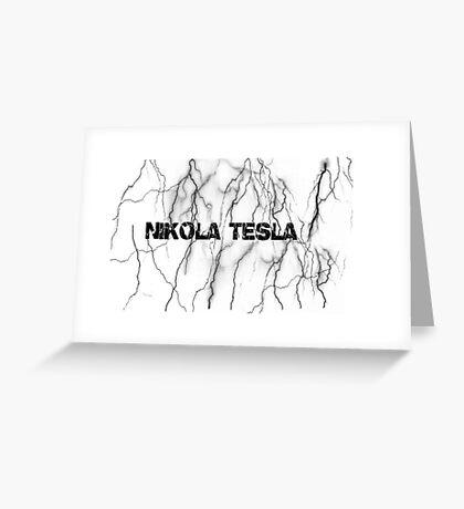 Tesla lightning Greeting Card