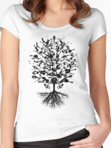 Musical Instruments Tree Women's Fitted Scoop T-Shirt