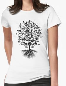 Musical Instruments Tree Womens Fitted T-Shirt