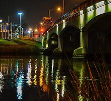 Swan Bridge at night by Priyantha Bhareti