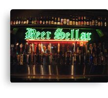 Beer Sellar  Canvas Print