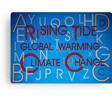 Climate Change - Hidden Message Canvas Print