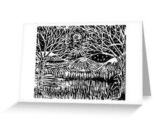 Linocut Print Greeting Card