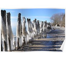 Icy Breakwater Poster