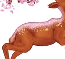 Deery Blossoms Sticker