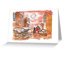 apocalypse red Greeting Card