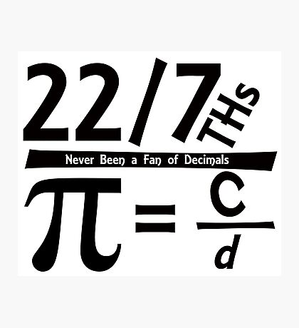 Fun for Pi Day Photographic Print