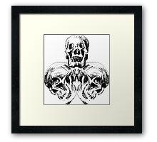 Triskull Framed Print