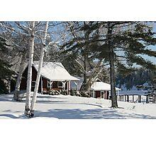 Moose Lake Cabins Photographic Print