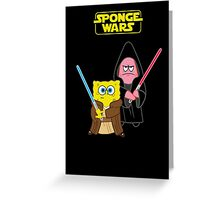 Sponge Wars Greeting Card