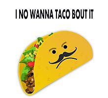 Taco Face Unhappy Pun Photographic Print